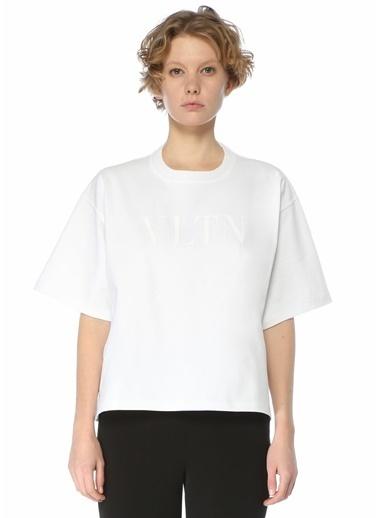 Valentino Valentino VLTN  Bisiklet Yaka T-shirt 101619591 Beyaz